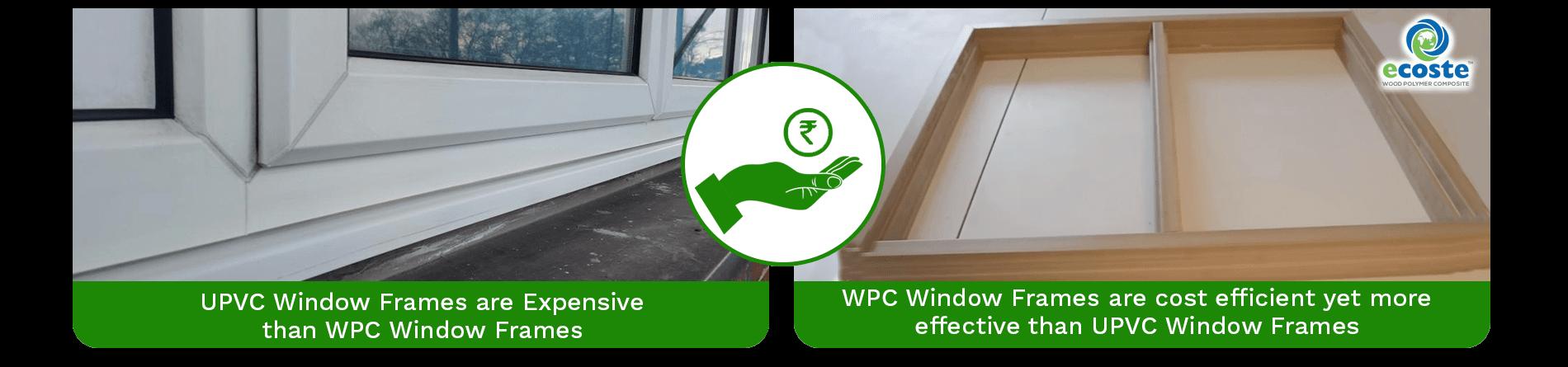UPVC Window Frame & WPC Solid Window Frame