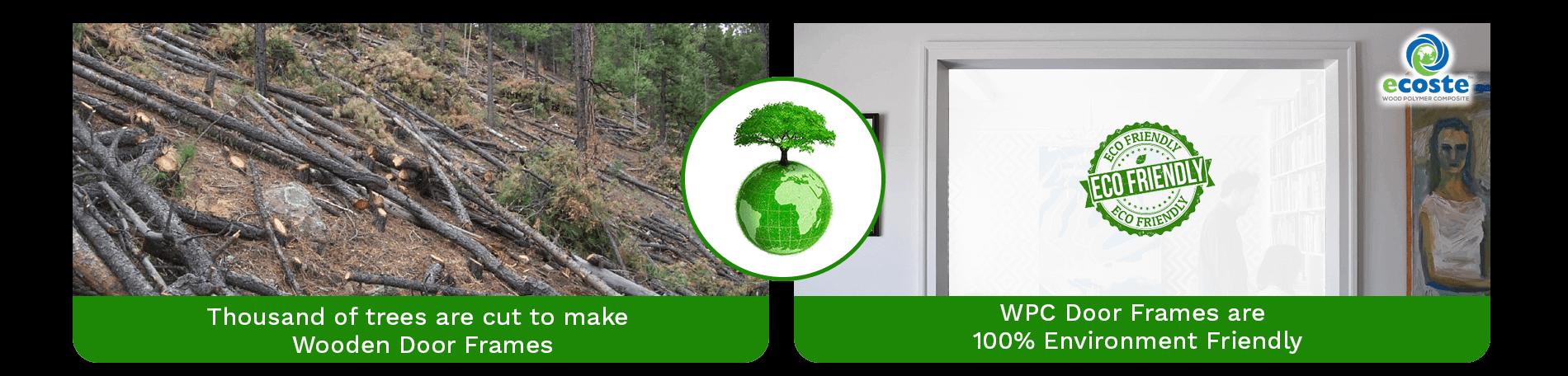 Ordinary Wooden Door Frame & WPC Solid Door Frame
