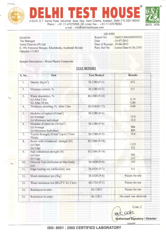 Material Quality Test Report